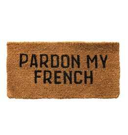 Creative Co-op Pardon My French Welcome Mat