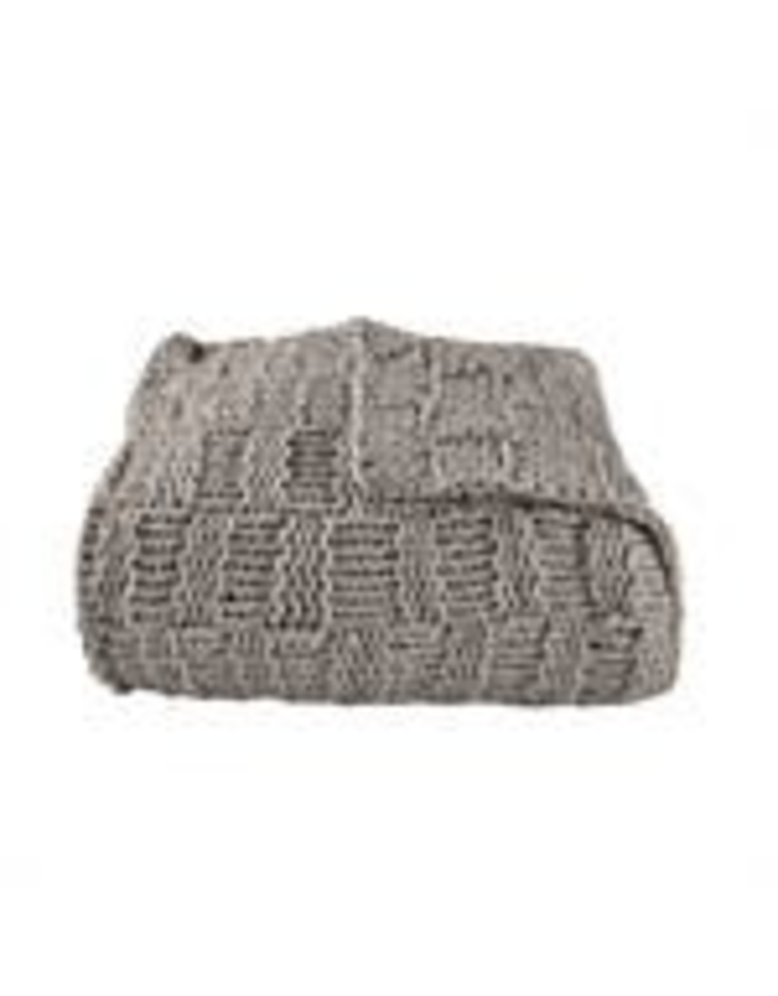 HiEnd Accents Chess Knit Throw - 50 x 60 - Taupe