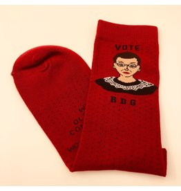 Maggie Stern Stitches RBG Ankle Socks - Red - Womens 7-10