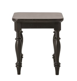 Bloomingville Acacia Wood Side Table/Stool, Black