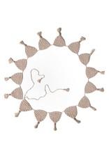 O.B. Designs Handmade Crocheted Wall Bunting Garland - Vanilla