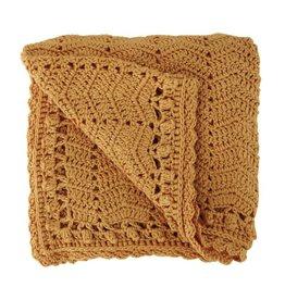 O.B. Designs Handmade Crocheted Baby Blanket - Mustard