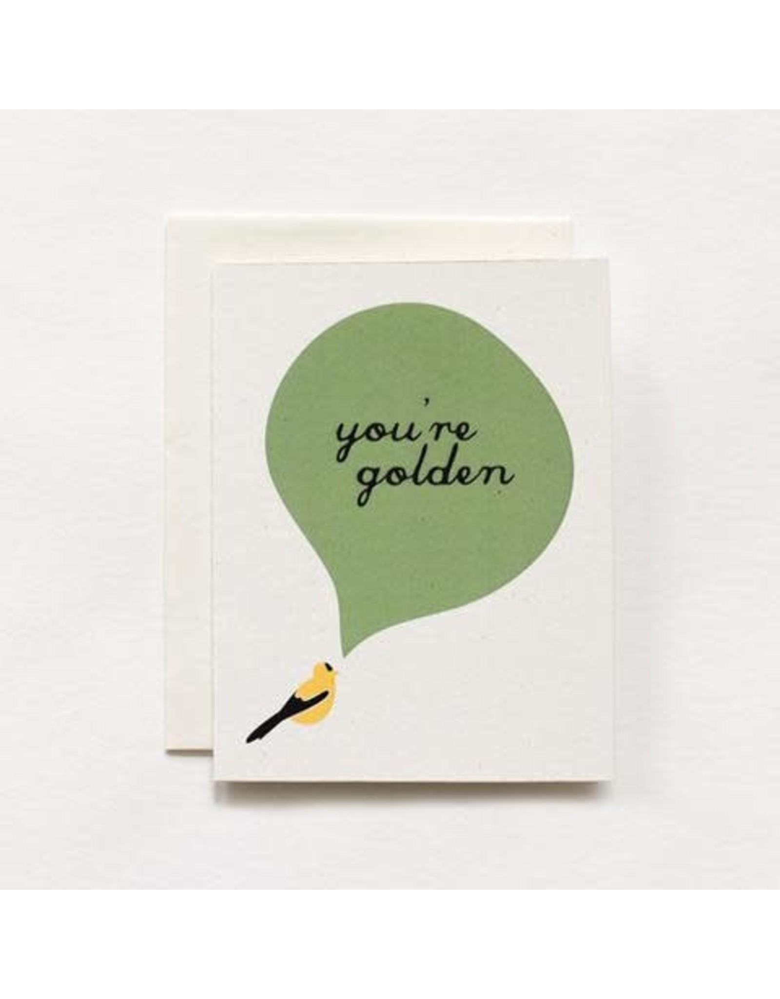 June & December Greeting Card - you're golden