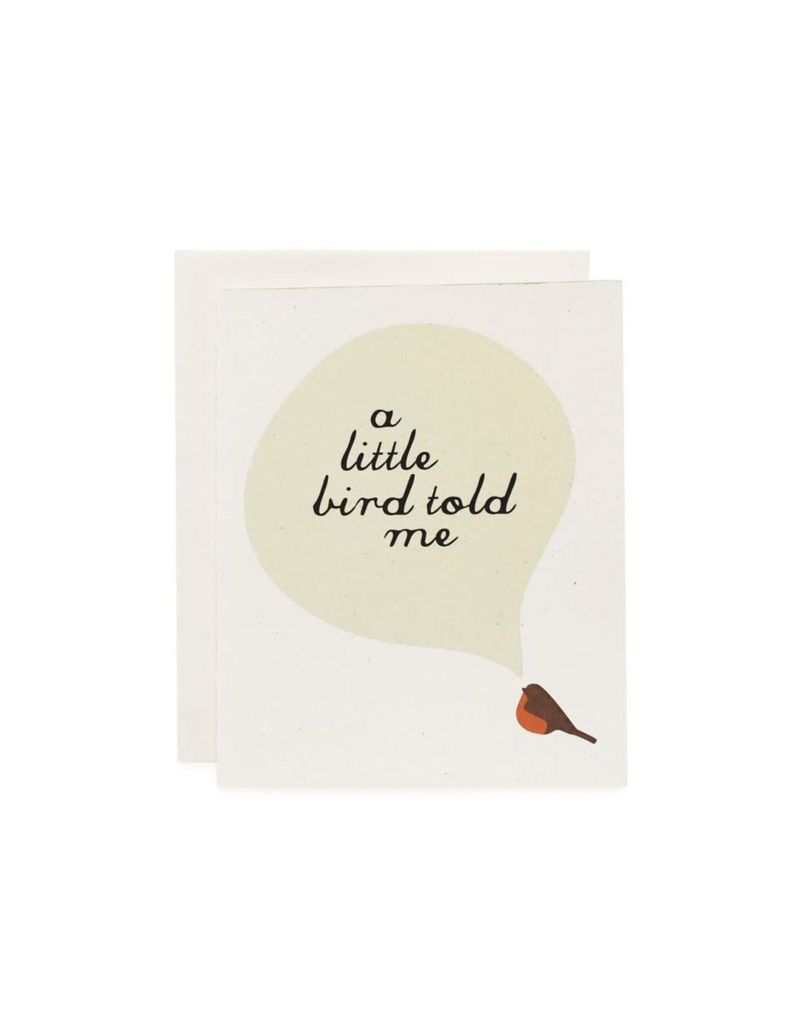June & December Greeting  Card - a little bird told me