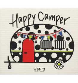 wet-it! Happy Camper Swedish dish cloth