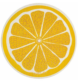 wet-it! Lemon round Swedish dish cloth