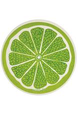 wet-it! Lime round Swedish dish cloth
