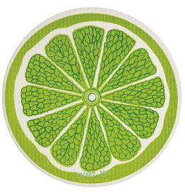wet-it! Lime Round Swedish Dishcloth