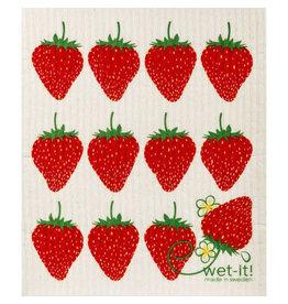 wet-it! Strawberry Swedish dish cloth