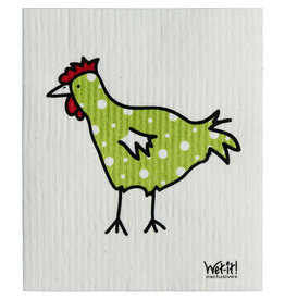 wet-it! Spotted green chicken Swedish dish cloth