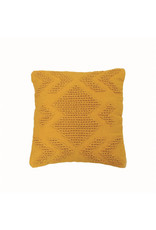 """Foreside Home & Garden 20""""Hand Woven Pillow - Mustard"""