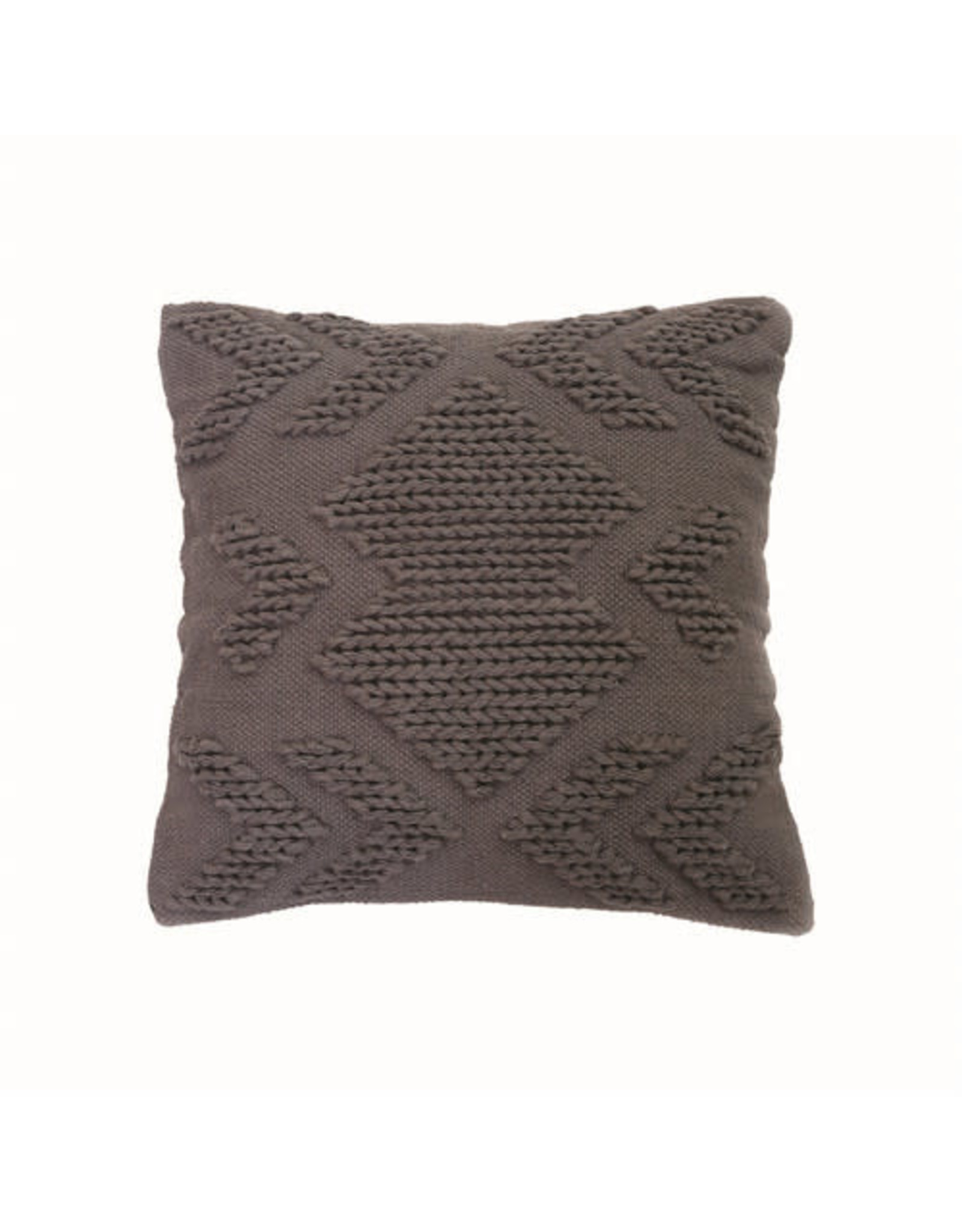 "Foreside Home & Garden 20""Hand Woven Pillow - Gray"
