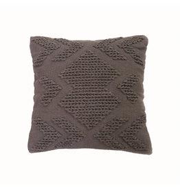 """Foreside Home & Garden 20""""Hand Woven Pillow - Gray"""