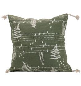 """Foreside Home & Garden 18""""x18"""" Hand Woven Wilder Pillow"""