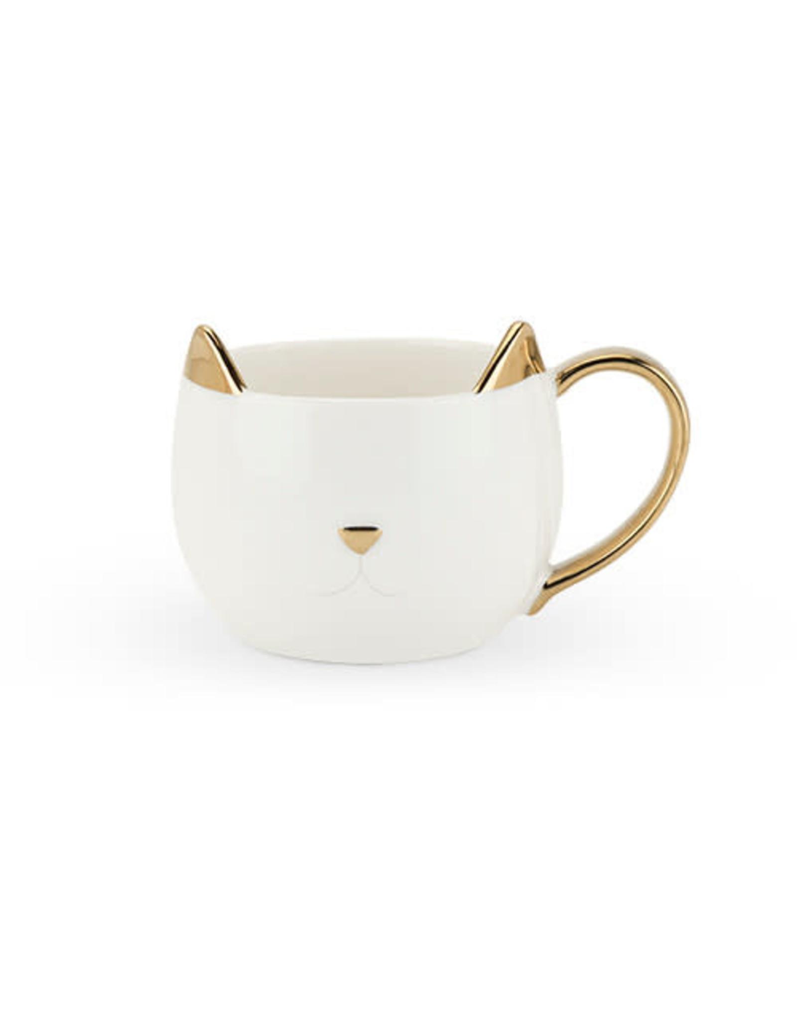 Pinky Up Chloe White Ceramic Cat Mug