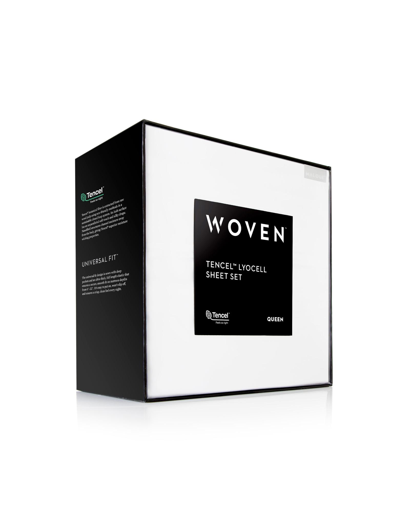 Woven Tencel Pillowcase Set - Queen - White