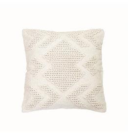 """Foreside Home & Garden 20""""Hand Woven Pillow - Cream"""