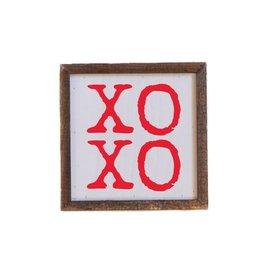 "Driftless Studios 6"" x 6""  XOXO Sign"