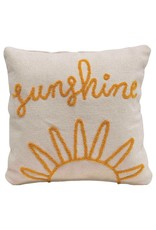 "Creative Co-op 18"" Sunshine Square Cotton Pillow"