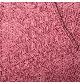 O.B. Designs Handmade Crocheted Baby Blanket Blush