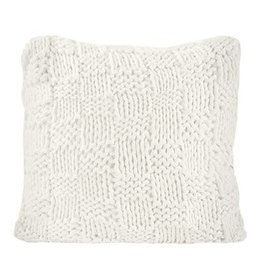 """HiEnd Accents 27"""" Chess Knit Euro Pillow"""