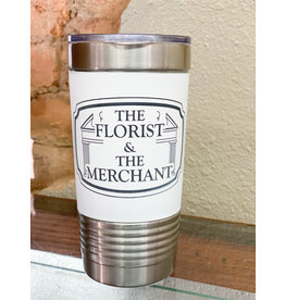 The Florist & The Merchant 20 oz Insulated Silicone Cup - White