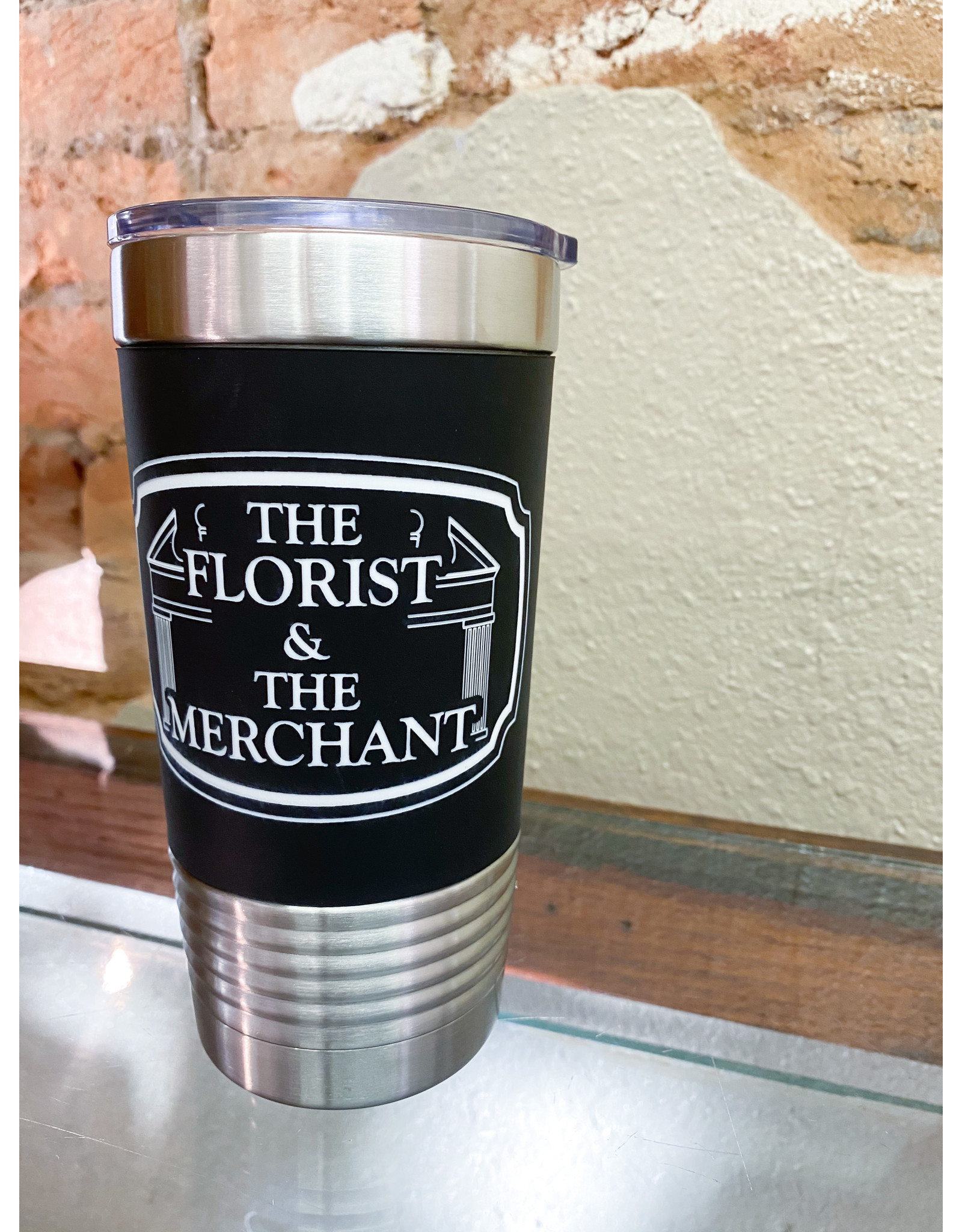 The Florist & The Merchant 20 oz Insulated Silicone Cup - black