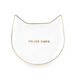 Pinky Up Feline Good: Ceramic Cat Tea Tray - White