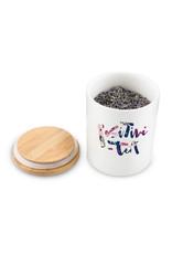 Pinky Up Positive-tea Ceramic Tea Canister