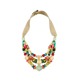 Twine & Twig Layered Classic Necklace - Palm
