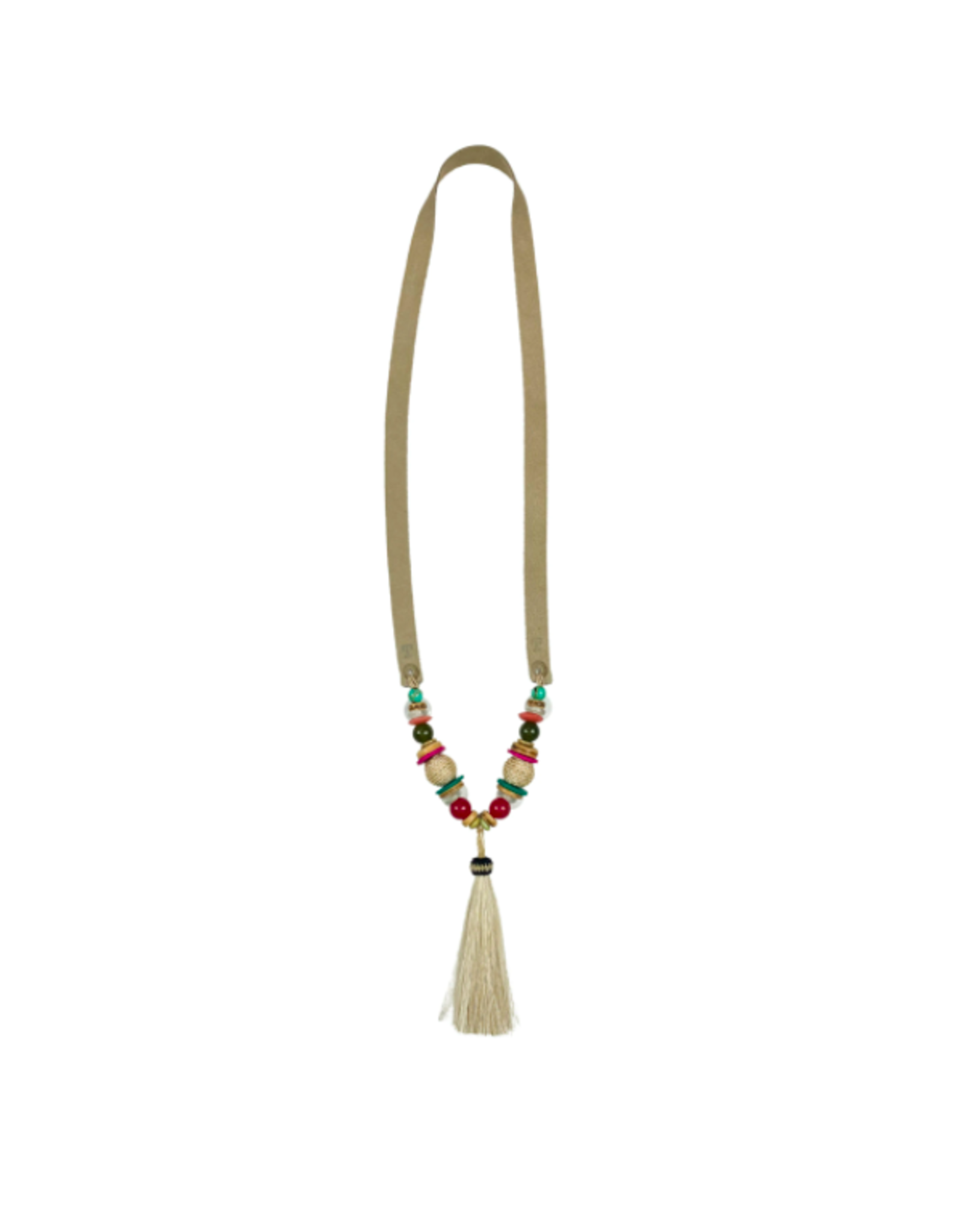 Twine & Twig Tassel Slim Horse Hair Necklace - Palm