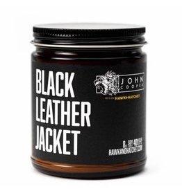 Hawk & Hatchet Black Leather Jacket Candle - 8 oz