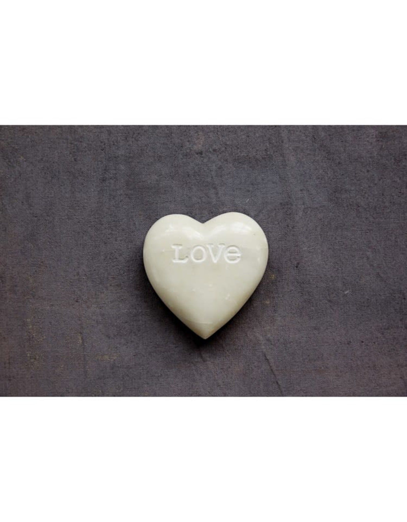 """Creative Co-op 4"""" Soapstone LOVE paper weights"""