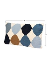 """Creative Co-op 26"""" Wool Blend Diamond Lumbar Pillow"""
