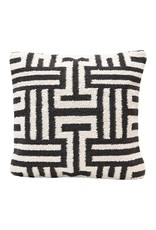 """Creative Co-op 20"""" Square Abstract Woven Pillow - B&W"""