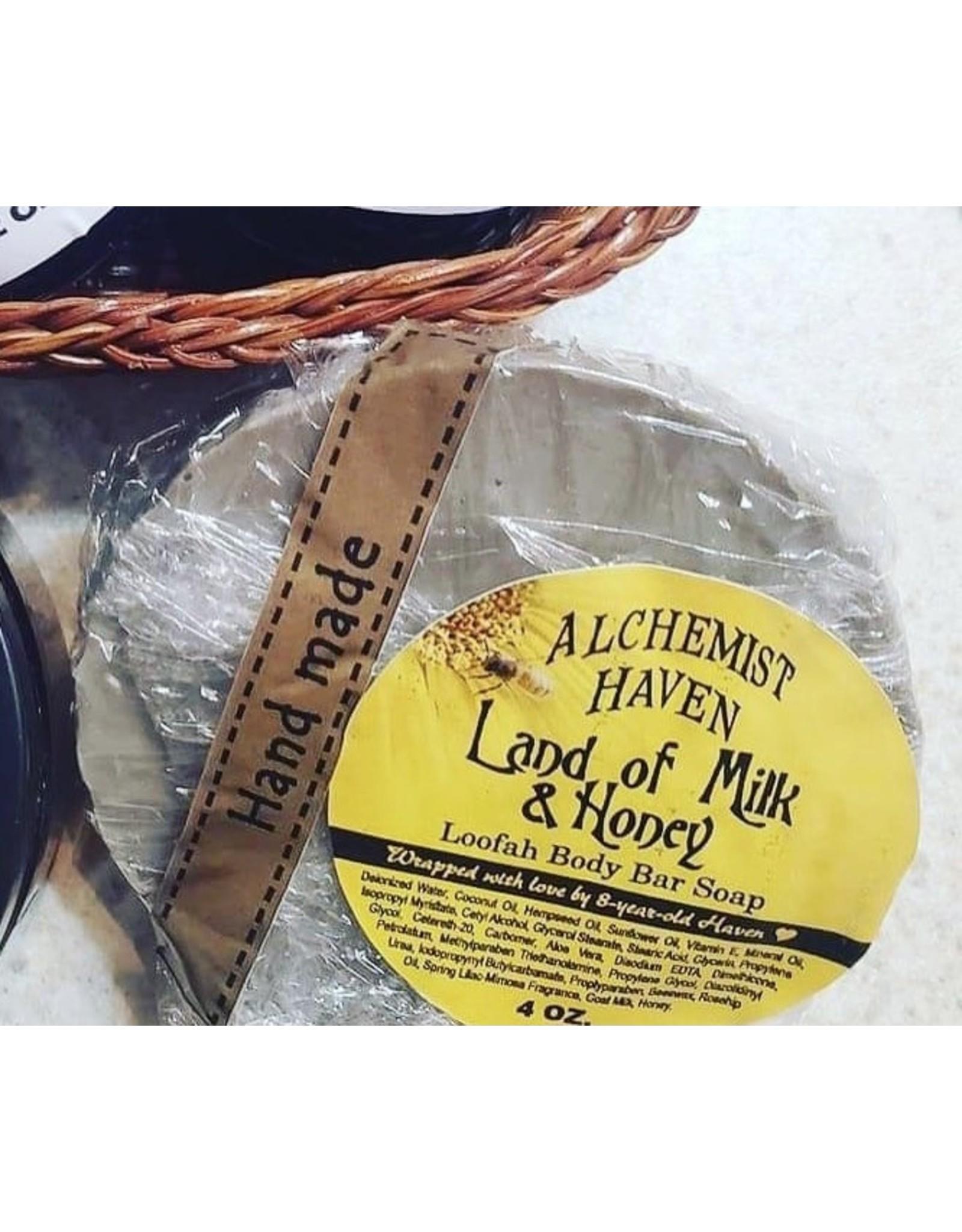 The Florist & The Merchant Land of Milk & Honey Loofah Body Bar