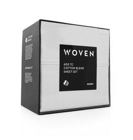 Woven 600TC Sheets - Queen - White