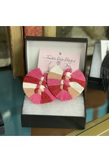 Timber Rose Designs Macrame Feather Earrings - Valentine's Day