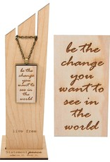 Statement Peace Be the change necklace