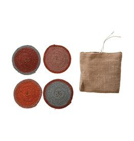 "Creative Co-op 4"" Round Seagrass Coasters"