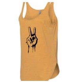 Statement Peace Peace sign tank  - mustard - lg