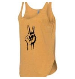 Statement Peace Peace sign tank  - mustard - med