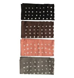"Creative Co-op 18"" Square Cotton Polka Dot Napkin Set"