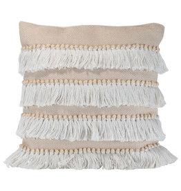 Foreside Home & Garden 18x18 Faithe Pillow Beige