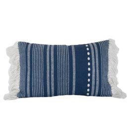 Foreside Home & Garden 14x22 Hand Woven Mickey Pillow Blue