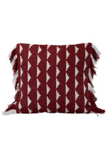Foreside Home & Garden 18x18 Hand Woven Blaise Pillow Red