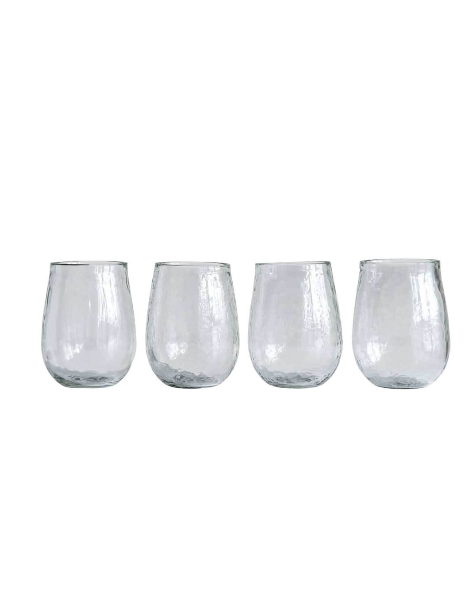 Creative Co-op 14 oz. Recycled Glass Stemless Wine Glass