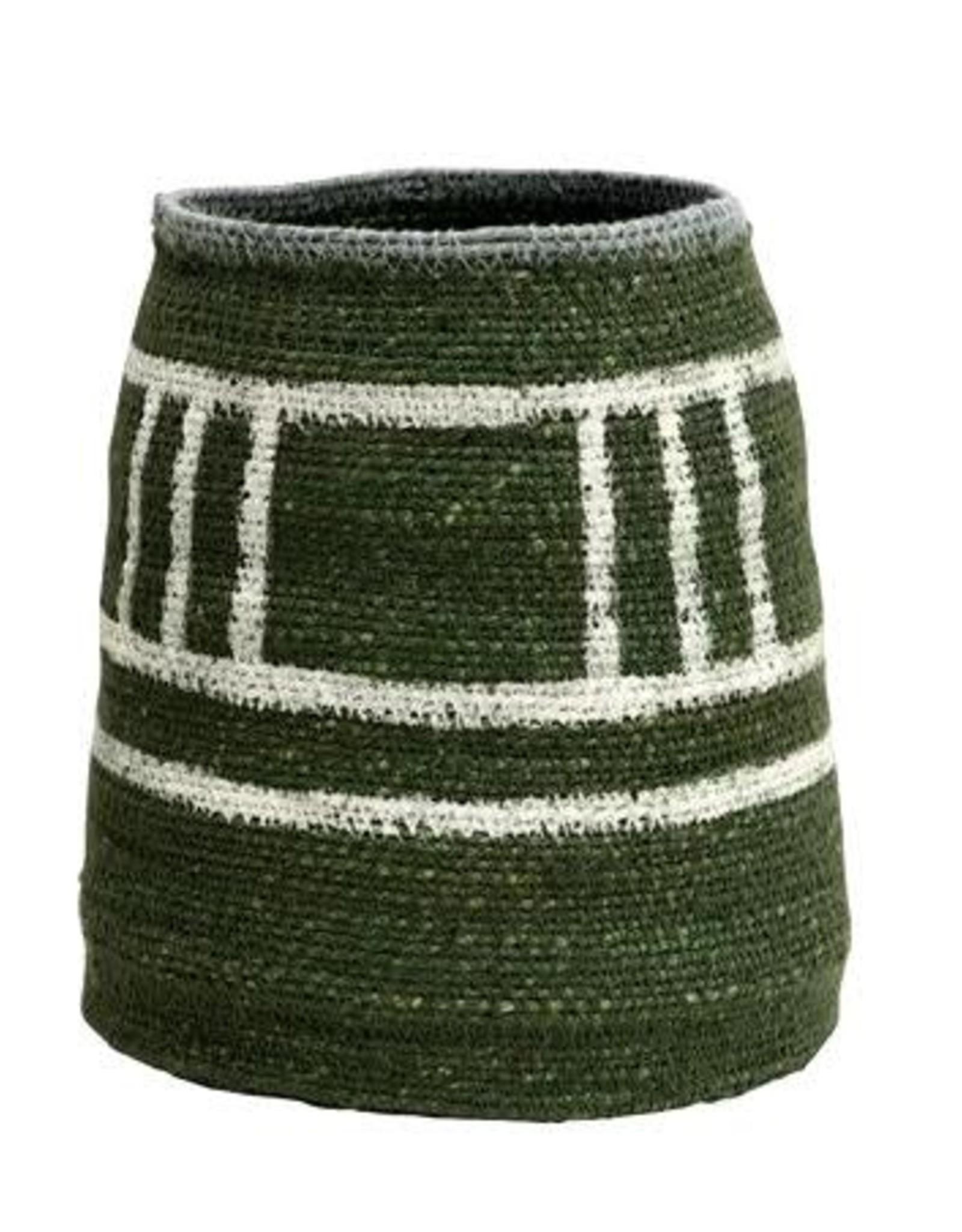 "Creative Co-op 6"" x 9"" H Hand-Woven Seagrass Basket, Green"