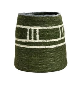 "Creative Co-op 8"" x 10"" H Hand-Woven Seagrass Basket, Green"