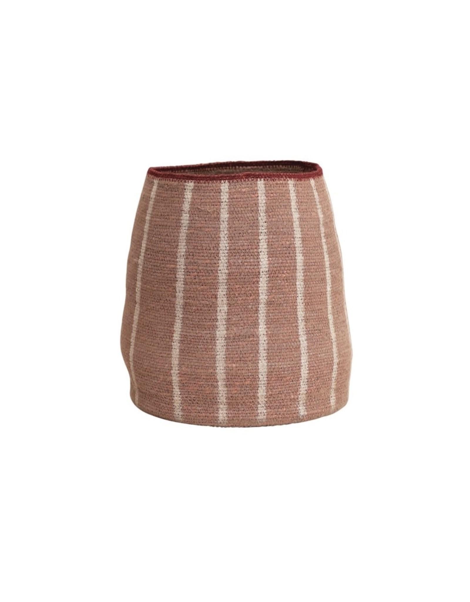 """Creative Co-op 8""""x 11"""" Hand-Woven  Seagrass Basket, Desert Rose"""